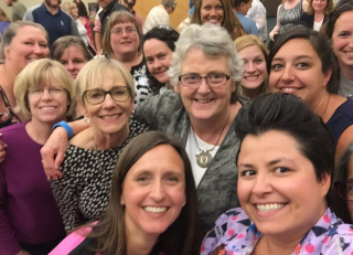 number talks selfie with Ruth Parker
