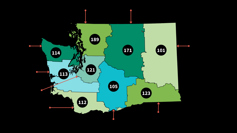 map of ESDs