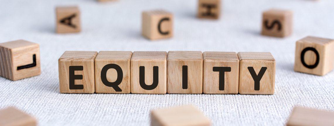 Equity written in blocks