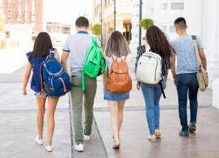 Students Walking away